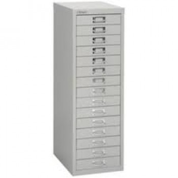 Colonne 15 tiroirs bisley multidrawer a3 gris for Meuble porte verrouillable