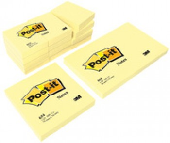 3M Post-it Notes adhésives - 102 x 76 mm - jaune