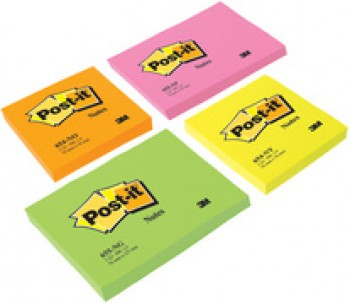 3M Post-it bloc-Notes - 76 x 76 mm - jaune néon