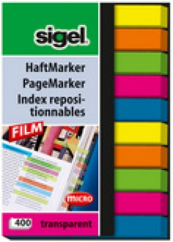 index repositionnables Film micro - 50 x 6 mm - 3 couleurs