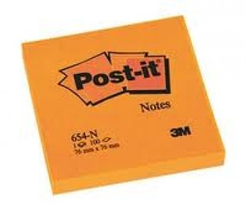 post it orange neon