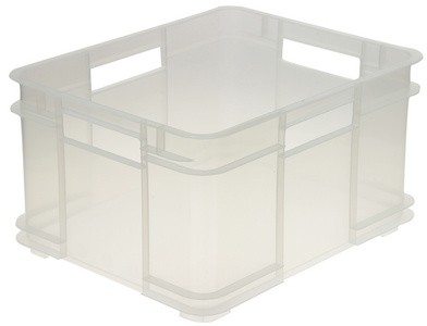 grande bo te plastique de rangement transparente bo te de stockage solide. Black Bedroom Furniture Sets. Home Design Ideas