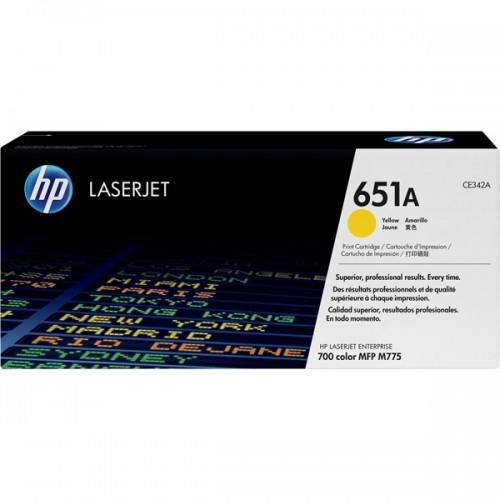 toner hp laserjet 651a d 39 origine jaune toner hp hp cartouches toners. Black Bedroom Furniture Sets. Home Design Ideas