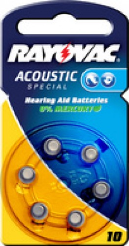 """RAYOVAC piles bouton pour aides auditives """"Acoustic"""" -"""