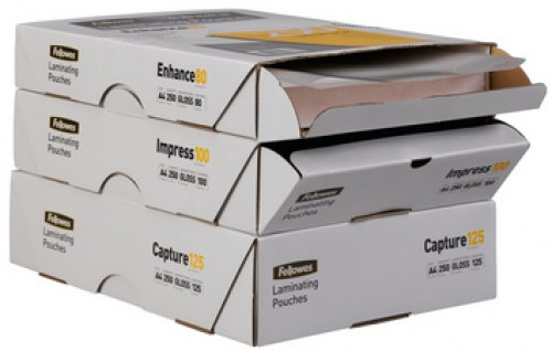 Fellowes Pochettes a plastifier - A4 - 2 x 80 microns - pack eco - 250 pcs