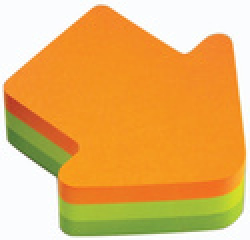 Post-it 3M Notes « Flèches » -70 x 70 mm - orange / vert clair / vert