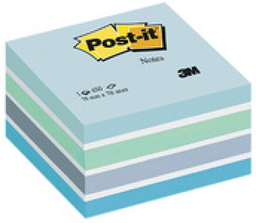 3M Post-it Bloc cube - bleu pastel - 76 x 76 mm