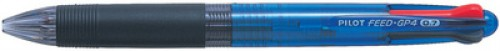 PILOT Stylo a bille 4 couleurs FEED GP4 - assortis