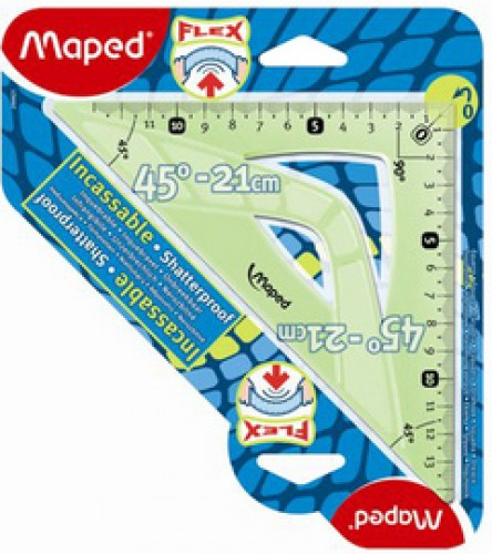 Maped Equerre Flex 45 degrés - hypotenuse: 260 mm