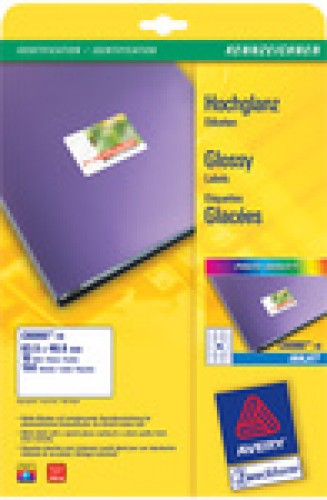 Avery Zweckform étiquettes inkjet glossy - 88 -9 x 63 -5 mm