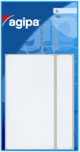 Agipa 21 étiquettes multi-usages - 34 x75 mm - blanches