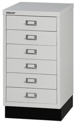 "Caisson 10 tiroirs - Bisley ""Multidrawer"" - A3 - couleur : argent"