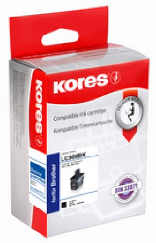 Cartouche d'encre compatible Brother LC970C/LC1000C - cyan - Kores