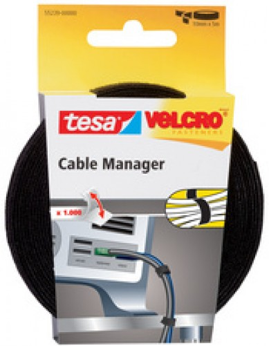 Tesa VELCRO attache-câble câble Manager universel - noir -