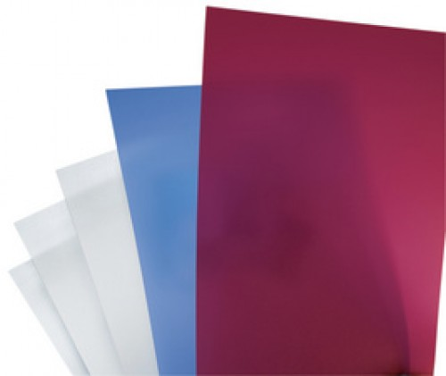 Couverture plastique - PolyClearView - A4 - 0,45 mm - 50 feuilles - transparent