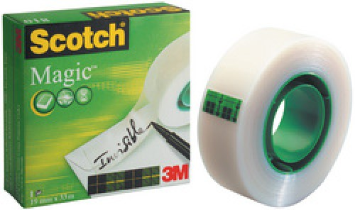 3M Scotch Ruban adhésif Magic 810 - invisible - 19 mm x 66 m