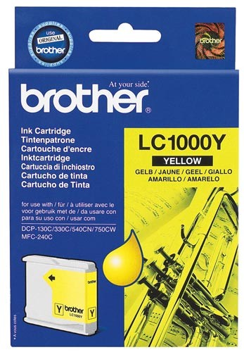 Cartouche d'encre Brother LC1000Y - jaune