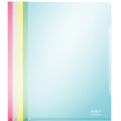 LEITZ Pochette Super Premium - A4 - PVC - 100 chemises couleurs assorties