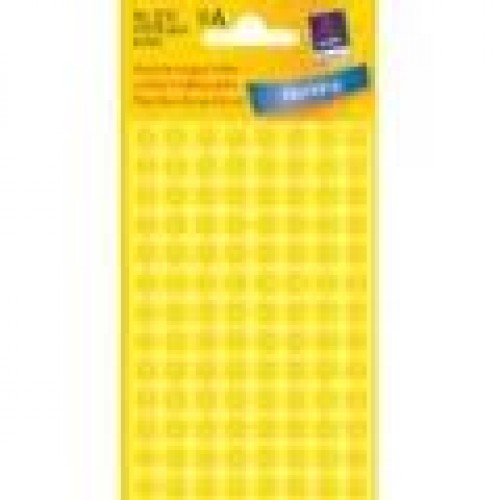 pastilles adhesives jaune avery