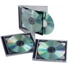 Boitier double vides CD/DVD Fellowes - lot de 5 - Transparent