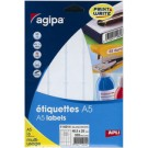 Etiquettes Agipa - multi usage - 35 x 15 mm - blanches