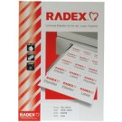 RADEX Etiquettes universelles - détachable - 210 x 297 mm -