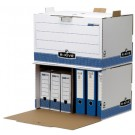 Caisse container d'archivage empilable - RKive PRIMA - bleu