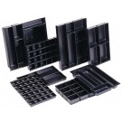 Bisley Organisateur tiroir - (H) 51 mm - 4 compartiments - anthracite