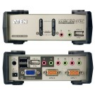 ATEN Switch KVM avec hub USB - USB + audio - 2 ports - pilote