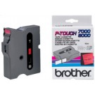 Cassette ruban Brother TX-211 - 6 mm - noir / blanc