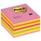 3M Post-it Bloc cube - rose Neon - 76 x 76 mm