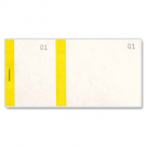 Ticket à souche - carnet tombola jaune - dimensions: (L)135 x (H)60 mm