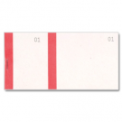 Ticket à souche - carnet tombola rouge - dimensions: (L)135 x (H)60 mm