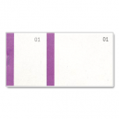Ticket à souche - carnet tombola violet - dimensions: (L)135 x (H)60 mm