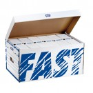 Container Fast standard avec couvercle rabattable - blanc/gris
