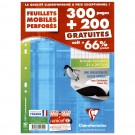 Feuilles simples perforés A4 - grand carreau - 300 + 200 - Clairefontaine