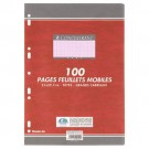 Feuilles simple couleur - Seyes - A4 - 100 pages - rose