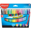 Maped Feutre COLOR'PEPS - étui 18 - largeur de tracé M
