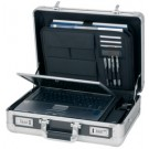 "Attaché-case Carbon - pour ordinateur 17"" - aluminium"