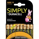 Pile alcaline DURACELL simply AAA - blister de 8