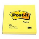 3M Post-it  - 76 x 76 mm - jaune - pack de 12