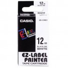 Ruban standard pour Casio Label Printer largeur 12 mm - noir sur blanc