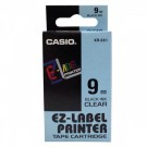 Ruban standard pour Casio Label Printer largeur 9 mm - noir sur transparent