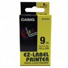 Ruban standard pour Casio Label Printer largeur 9 mm - noir sur jaune