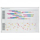 Tableau planning calendrier annuel 90 x 60 cm - 53 semaines