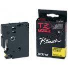 Cassette brother - TZe-S631 - 12 mm - noire/jaune