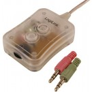 LogiLink commutateur bureau mini audio - 2 ports - transparent