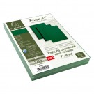 couverture reliure A4 effet cuir vert emballage
