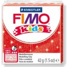 pâte fimo kids rouge paillette