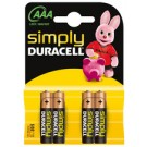 "Pile alcaline ""simply"" LR 03- DURACELL - 4 piles"